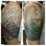 Ram and nature scene cover up