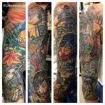 Halloween and zombie themed sleeve by Alex Feliciano.