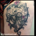 Awesome Nightmare Before Christmas tattoo by Tami Rose.