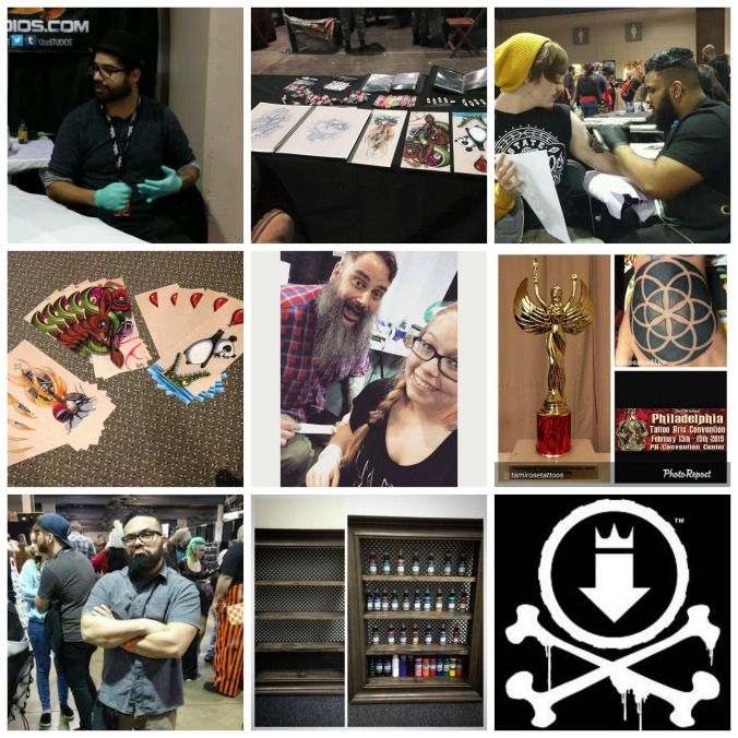 Some photos from the 2015 Philadelphia Tattoo Convention.  12 oz.'s Alex Feliciano, Bobby Trefz, Jose Bolorin, and Kevin Soto were in attendance and tattooing!