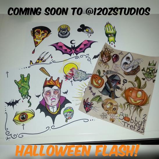 Tattoo designs by Rebecca La Norma, Jose Bolorin and Bobby Trefz.