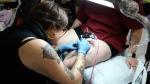 Rebecca La Norma tattooing day 1.