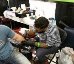Alex Feliciano tattooing day 1.