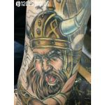Viking portion of a Valkyrie sleeve by Alex Feliciano.