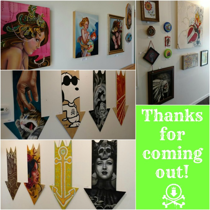 Art show thank you